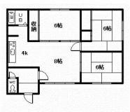 永山6-6二戸借家