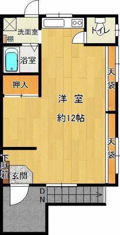 203号室 2F角部屋