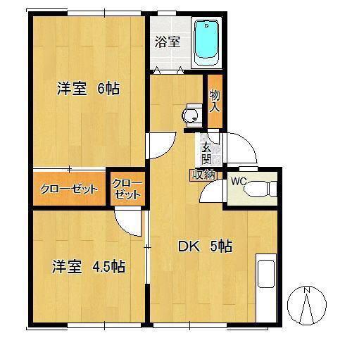 サンパレス 202号室 角部屋