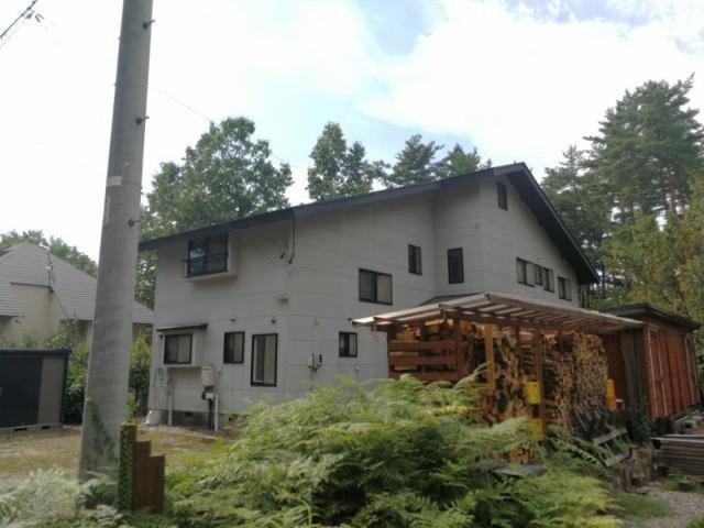 穂高学者村 二世帯住宅の外観写真