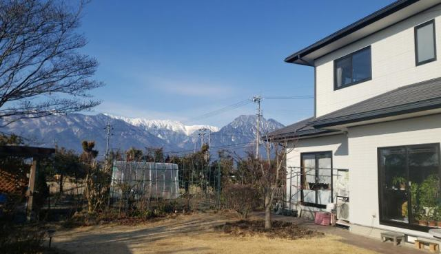 池田町 菜園・ドッグラン付 アルプス一望の中古住宅の外観写真