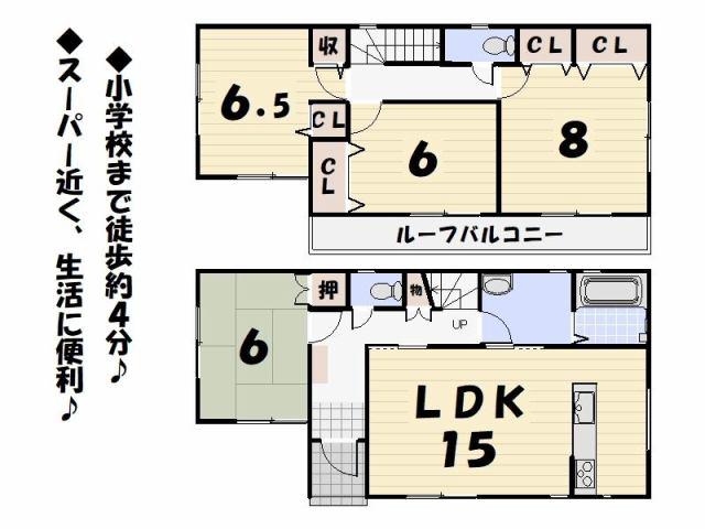 藤枝市下青島4号棟の間取り