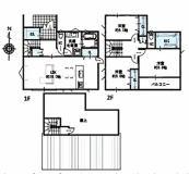 新築戸建 安城市桜井土地区画整理地内 B棟の間取り