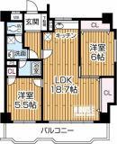 12階建て、11階部分のお部屋で、陽当たり良好です