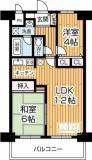 LDKが12帖で広々とした2LDK(専有面積52.2㎡)