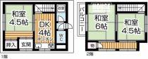 上野西4丁目一戸建ての間取り