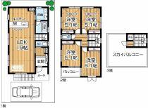 上野東2丁目新築一戸建て(A号地)の間取り