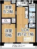 大阪厚生年金住宅A棟の間取り
