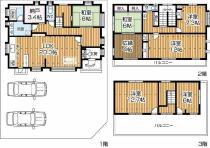 平成12年度建築の6SLDK(土地58.62坪)