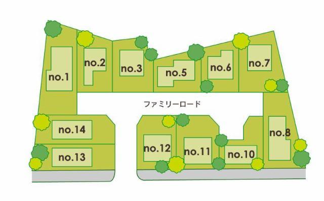 和泉市観音寺町現地の区画図です。