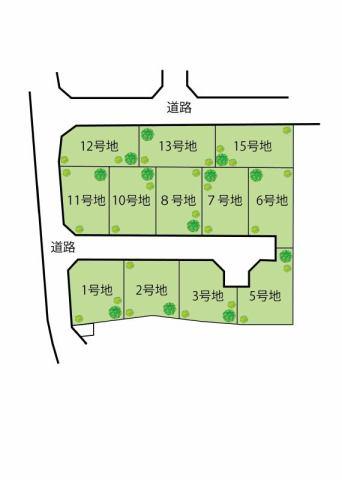 エスコート岸和田市吉井町2丁目ランドプランです。