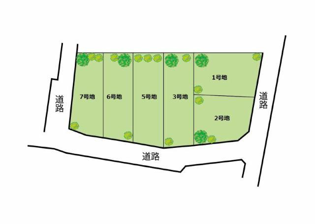 エスコート忠岡町忠岡中2丁目全6邸の区画図です。
