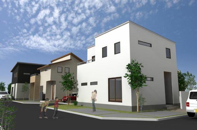 エスコート貝塚市小瀬1丁目完成予想パースです。