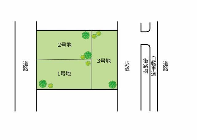 エスコート高石市 綾園1丁目の区画図です。