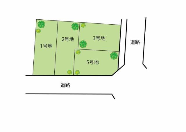 エスコート岸和田市上松町の区画図です。