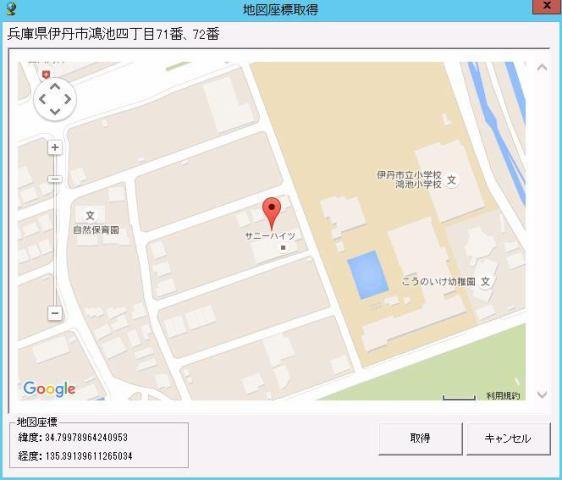 サニーハイツ駐車場の地図