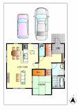 敷地面積175.69㎡(53.14坪)★2台駐車可能です。