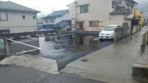 駐車場進入路が広くバックでも駐車しやすい駐車場