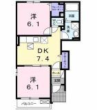 全室フローリングで生活しやすい2DKのお部屋♪