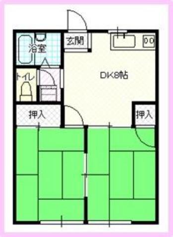 浜方売りアパート 2DK×6室×2棟の外観写真