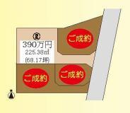 松山市船ケ谷 4区画 2号地の間取り