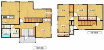 2階に3部屋プラス納戸あり