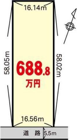 神栖市下幡木字三嶋1084番1の間取り