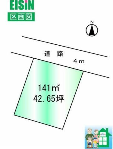 野木町潤島の区画図