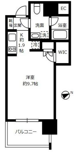 THE ROPPONGI TOKYO SUPERIOR RESIDENCEの間取り THE ROPPONGI TOKYO SUPERIOR RESIDENCE 港区六本木3丁目7-1 六本木駅 1K