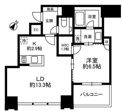 THE ROPPONGI TOKYO SUPERIOR RESIDENCEの間取り THE ROPPONGI TOKYO SUPERIOR RESIDENCE 港区六本木3丁目7-1 六本木駅 1LDK