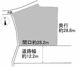 No.1385青森市新町野菅谷の区画図 No.1385青森市新町野菅谷 青森市新町野 800万円