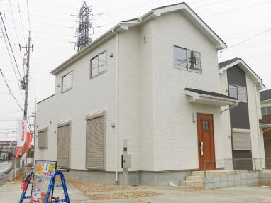 It is appearance photograph of Kawada 1582nd 1 4LDK Ueno, Inuyama-shi two sittings Building No. 1 after Ueno, Inuyama-shi two sittings Building No. 1 Inuyama-shi larger section of a village Ueno character