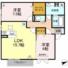 D-roomフェリーチェの間取り