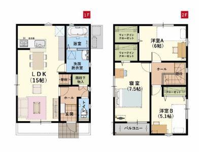有限会社グローバル住宅 間取り 高知市竹島町 オール電化住宅 新築一戸建ての間取り