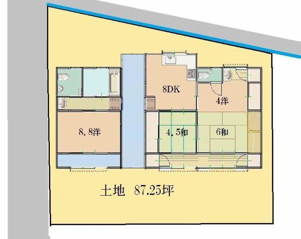 有限会社グローバル住宅 区画図 土地87.25坪でガーデニングにも最適