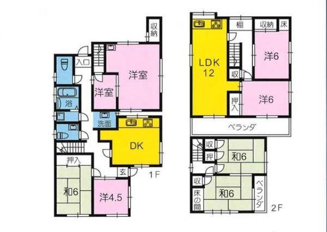 有限会社グローバル住宅 間取り 高知市高須東町 7LDK 売中古戸建の間取り