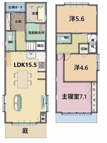 有限会社グローバル住宅 間取り 高知市三園町 建築条件付き新築住宅の間取り