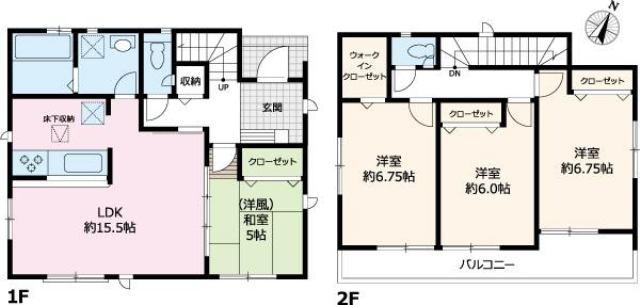 有限会社グローバル住宅 間取り グラファーレ高知佐々木町 南向きの新築戸建の間取り
