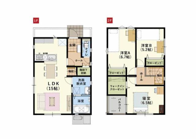 有限会社グローバル住宅 間取り 香南市野市町西野 新築一戸建て オール電化の間取り