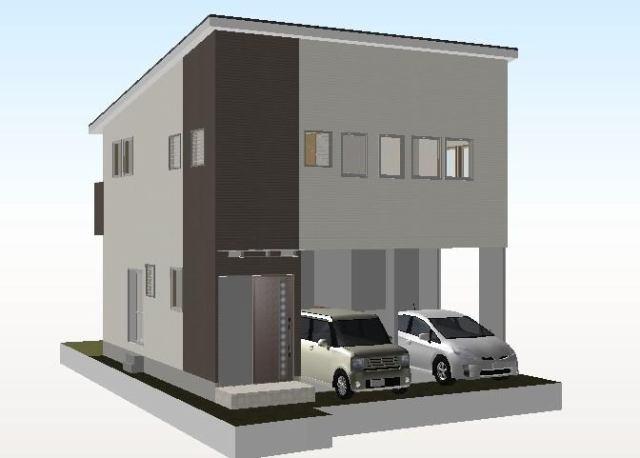 有限会社グローバル住宅 外観写真 高知市神田 新築住宅 小学校近く 4LDKの外観写真