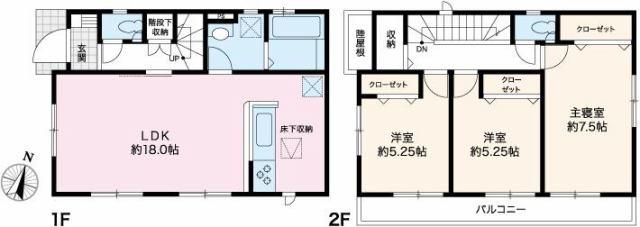有限会社グローバル住宅 間取り 高知市上本宮町 新築一戸建て 耐震等級3のお家の間取り
