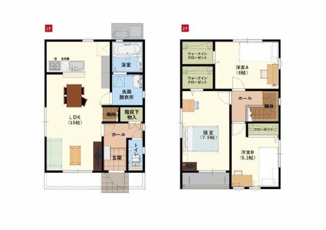 有限会社グローバル住宅 間取り 高知市高須 新築一戸建て 3LDKの間取り