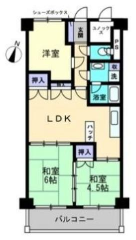 有限会社グローバル住宅 間取り 高知市知寄町 シティ・コア80 ペット可の間取り