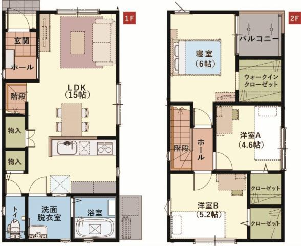 有限会社グローバル住宅 間取り 高知市桟橋通 新築一戸建て 耐震等級3相当の間取り
