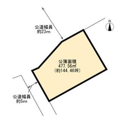 有限会社グローバル住宅 区画図 高知市百石町 売り土地 約144坪の区画図