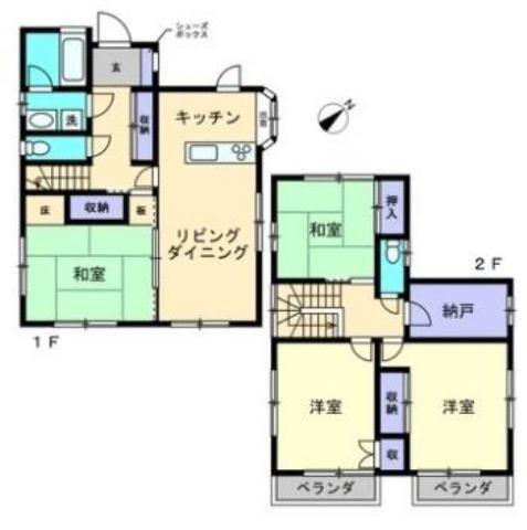 有限会社グローバル住宅 間取り 高知市高須 中古住宅 4LDKの間取り