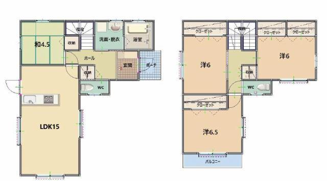 有限会社グローバル住宅 間取り 高知市西久万 耐震等級3相当 津波浸水区域外の新築の間取り