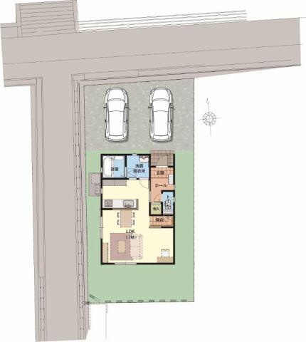 有限会社グローバル住宅 区画図 高知市桜井町 新築一戸建て 3LDKの区画図