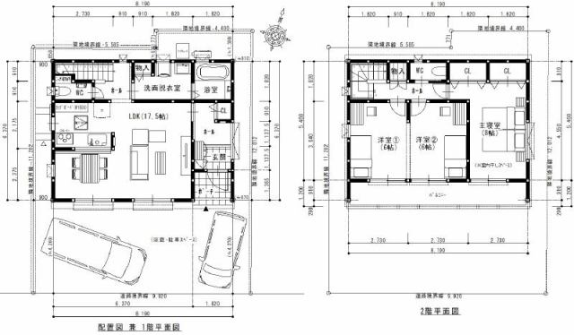 有限会社グローバル住宅 区画図 高知市塩田町 新築一戸建て 3LDKの区画図