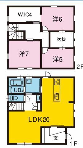 有限会社グローバル住宅 間取り 高知市福井町 災害エリア外の築浅 中古住宅 3LDKの間取り